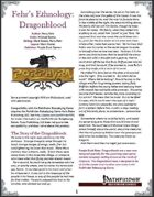 Fehr's Ethnology: Dragonblood [PFRPG]