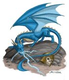 Stock Art: Blue Dragon