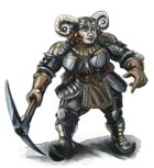 Stock Art: Female Dwarf Warrior