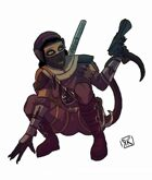 Stock Art: Catfolk Rogue