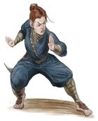 Stock Art: Female Halfling Monk