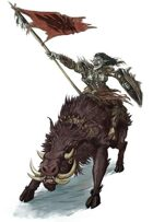 Stock Art: Female Hobgoblin Cavalier