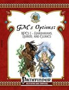 [PFRPG] GM's Options: NPCs 1: Barbarians, Bards, and Clerics