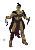 Stock Art: Female Half-Orc