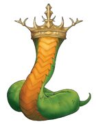 Stock Art: Crowned Serpent
