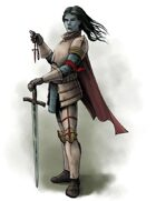 Stock Art: Female Avoodim Paladin