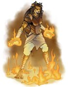 Stock Art: Female Catfolk Pyromancer