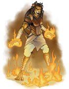 Stock Art: Female Catfolk Pyromancer