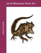 Stock Art: Desert Lizard