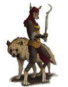 Stock Art: Female Gnoll with Hyena