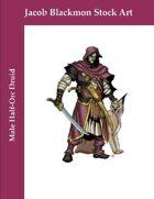 Stock Art: Male Half-Orc Druid