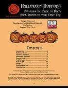 Lion's Den Press: Halloween Horrors