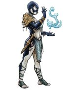 Stock Art: Female Orcam Spellcaster