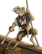 Stock Art: Male Ratfolk Pirate
