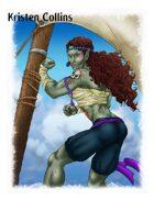 Stock Art: Female Orc Monk