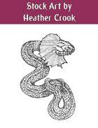 Stock Art: Fringed Serpent