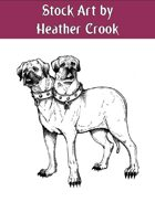 Stock Art: Two-Headed Dog