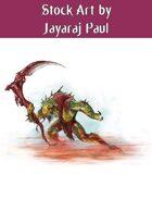 Stock Art: Demon with Scythe