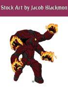 Stock Art: Burning Robot
