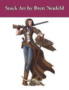 Stock Art: Female Gunslinger