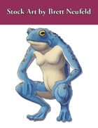 Stock Art: Blue Frogman