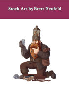 Stock Art: Male Dwarf Spellunker