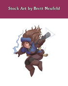 Stock Art: Female Dwarf Wizard