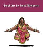 Stock Art: Female Human Yogi