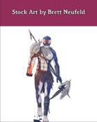 Stock Art: Male Orcam Sorcerer