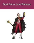 Stock Art: Male Human Royal Cleric
