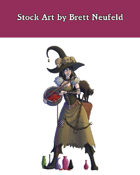 Stock Art: Female Human Witch