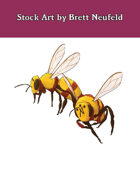 Stock Art: Giant Bees