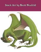 Stock Art: Green Dragon