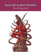 Stock Art: Devil on Throne