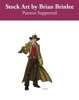 Stock Art: Male Steampunk Lawman