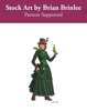 Stock Art: Female Steampunk Detective