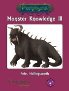 Monster Knowledge III