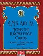 GM's Aid IV: Monster Knowledge Cards Volume 2 - Gargoyle to Owlbear