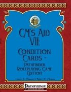 [PFRPG] GM's Aid VII: Condition Cards - Pathfinder Roleplaying Game Edition