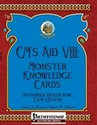 [PFRPG] GM's Aid VIII: Monster Knowledge Cards - Pathfinder Roleplaying Game Edition