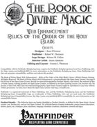 [PFRPG] The Book of Divine Magic Web Enhancement - Relics of the Order of the Holy Blade
