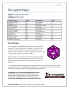 Encounter Pages [PFRPG]