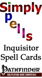 Inquisitor Spell Cards for the Pathfinder Role Playing Game