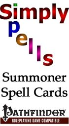 Summoner Spell Cards for the Pathfinder Role Playing Game