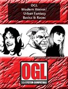 OGL Modern Horror/Urban Fantasy Basics and Races
