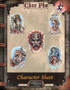 Choe Pho Character Sheet