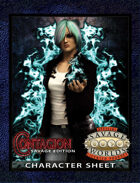 Contagion Savage Edition Character Sheet