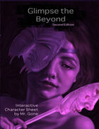 Glimpse the Beyond Second Edition Interactive Character Sheet