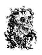 Stinky Goblin Stock Art: Skull Ooze