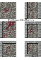 Cobblestone Tiles with Blood